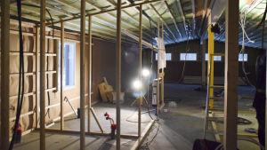 byggarbete vid frontmuseet i lappvik