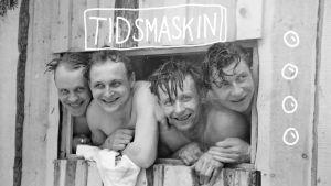 Finska soldater i bastu vid Rukajärvi