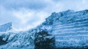 Muuri seitsemän kuningaskunnan rajalla Game of Thronesissa.