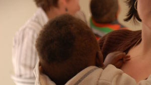 En liten en på barnhem i Sydafrika.
