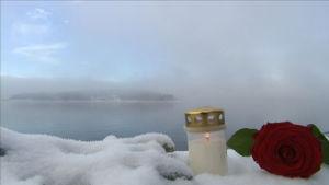 Utöyan saari talvella