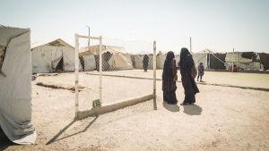 Finska kvinnor i al-Hol lägret i Syrien, augusti 2019
