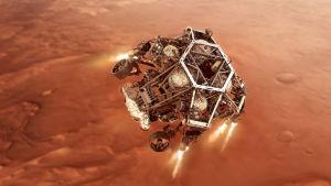 Marsrovern Perseverance landar.