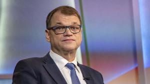 Juha Sipilä i Morgonettan den 9 mars 2019.
