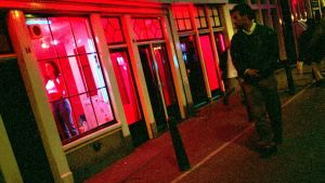 Red light district i Amsterdam