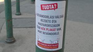 """Proteströrelsen """"tvåsavansade hundens"""" kampanj inför folkomrötningen i Ungern 2016."""