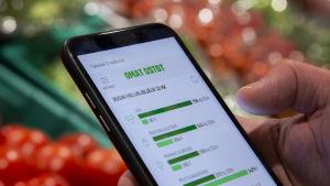 S-ryhmän omat ostot aplikaatio.