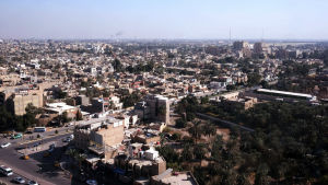 Iraks huvudstad Bagdad.