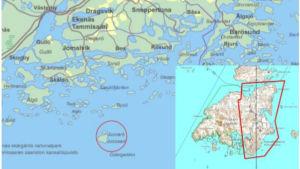 Karta som visar Jussarös placering, samt det aktuella området i planläggningen.