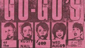 The Go-Go's -yhtyeen flyer 1981. Arkistokuva samannimisestä dokumenttielokuvasta.