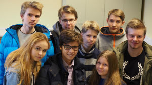 Elever i klass 9 A i Norsens högstadium.