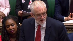 Jeremy Corbyn talar i parlamentet 3.9.2019