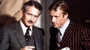 Paul Newman ja Robert Redford elokuvassa Puhallus