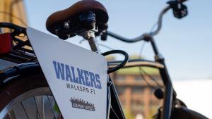 Nuorisotyön käyttöön tuunattu polkupyörä.