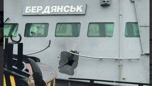 Ett av de ukrainska fartyg som besköts i Kertjsundet i november 2018.