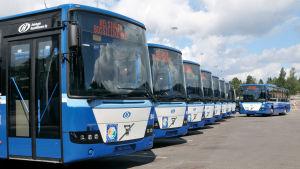 Bussar i Helsingfors