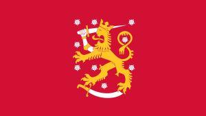 Finlands tillfälliga flagga från januari 1918 till maj 1918.