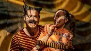 Foto från Alice i Underlandet på Unga Teatern.