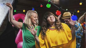 Bild från inspelning av musikvideon Åhi Ån