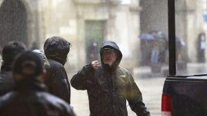 Ridley Scott under inspelnignarna till filmen The Counselor i Alicante i Spanien.