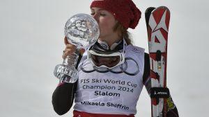 Mikaela Shiffrin, bäst i världen vid 19 års ålder.