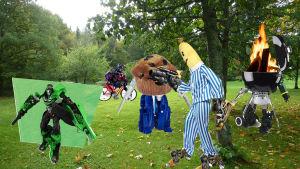 Jeeeee, vi har picknick med picknick-transformers.