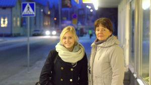Vendla Fagerudd och Carola Sundqvist i Jakobstad.