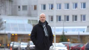 Huvudförtroendeman Kim Berg på Vasa centralsjukhus.