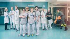 Rollbesättningen för den svenska tv-serien Syrror