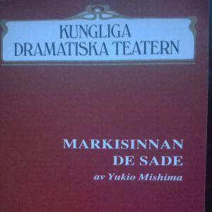 Prrogrambladet till Markisinnan de Sade, Dramaten 1989.