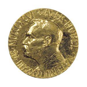 Medaljen som Nobels fredspristagare får