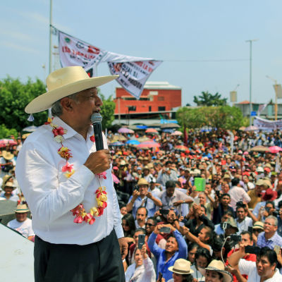 Den mexikanska presidentkandidatn Andrés Manuel López Obrador