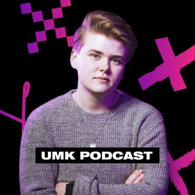 Toimittaja Henkka Remes poseeraa harmaassa villapaidassa kädet puuskassa. Kuvassa lukee UMK Podcast.