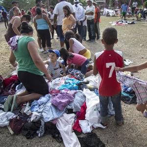 Migranter i mexikanska Oaxaca.
