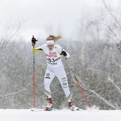 Julia Häger i elden under vintern 2016-2017.