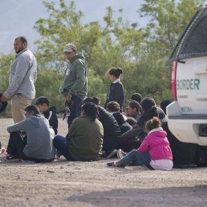 Personer som gripits i delstaten New Mexico efter att ha tagit sig olagligt till USA.
