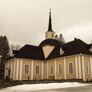 Kustaa Aadolfin kirkko Iisalmessa Pohjois-Savossa.