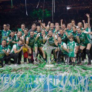 Györi firar sin Champions Leegue-titel våren 2018.