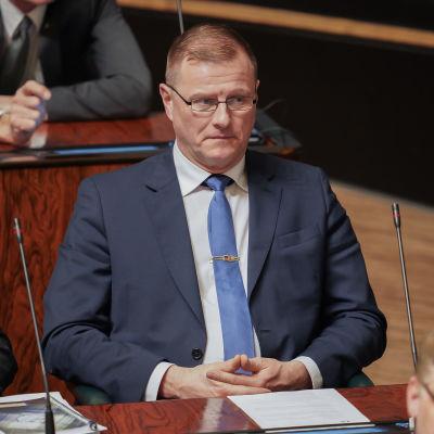 Petri Huru eduskunnassa 5.3.2020