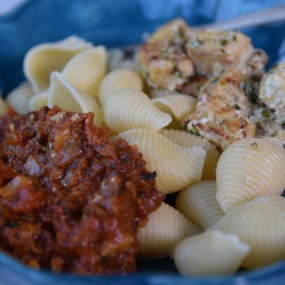 En vegetarisk pastarätt