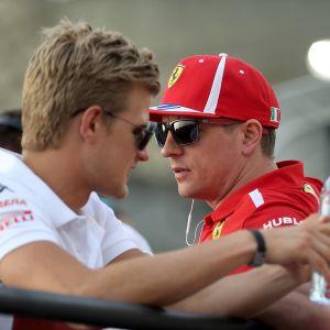 Förra säsongen körde Marcus Ericsson för Sauber och Kimi Räikkönen för Ferrari.