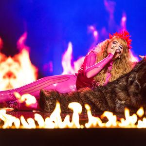 Erika Vikman esittää kappaleensa Cicciolina.