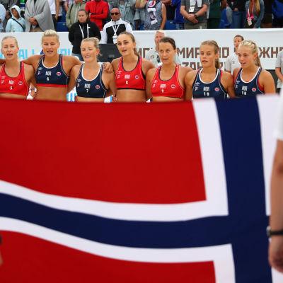 Norjan rantakäsipallon maajoukkue vuoden 2018 MM-kisoissa.