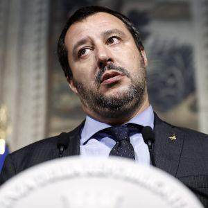 Ledaren för det högerpopulistiska partiet Lega, Matteo Salvini, i maj 2018.