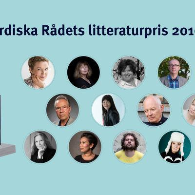 Kandidaterna till Nordiska rådets litteraturpris 2016.