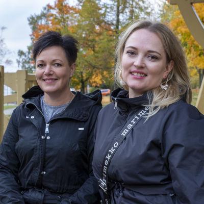 Tuula Papula ja Tanja Nybacka