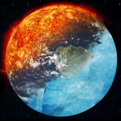Jäätynyt ja roihuava Maapallo