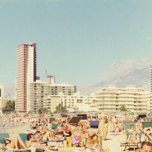 Sandstrand i södra Europa.