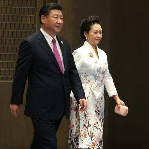 Kinas president Xi Jingping med fru Peng Liyuan