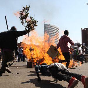 Tre demonstranter sköts ihjäl då polisen öppnad eld mot oppositionsanhängare i huvudstaden Harare